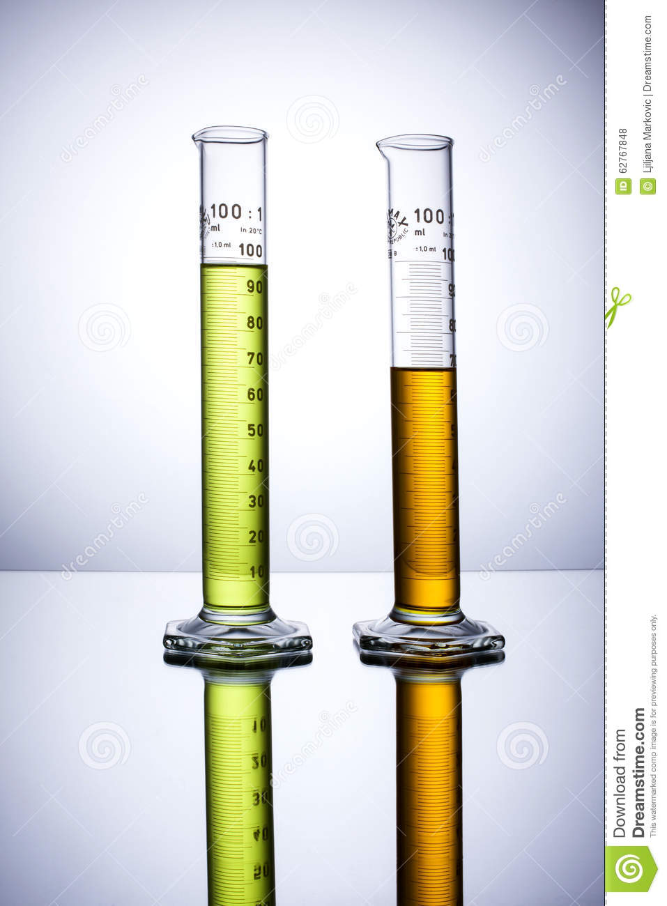 Laboratory Test Instruments : Glass beakers and test tubes cartoon vector