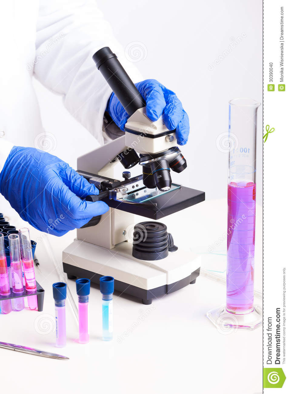 Laboratory Test Instruments : Laboratory equipment stock photo image of growth disease
