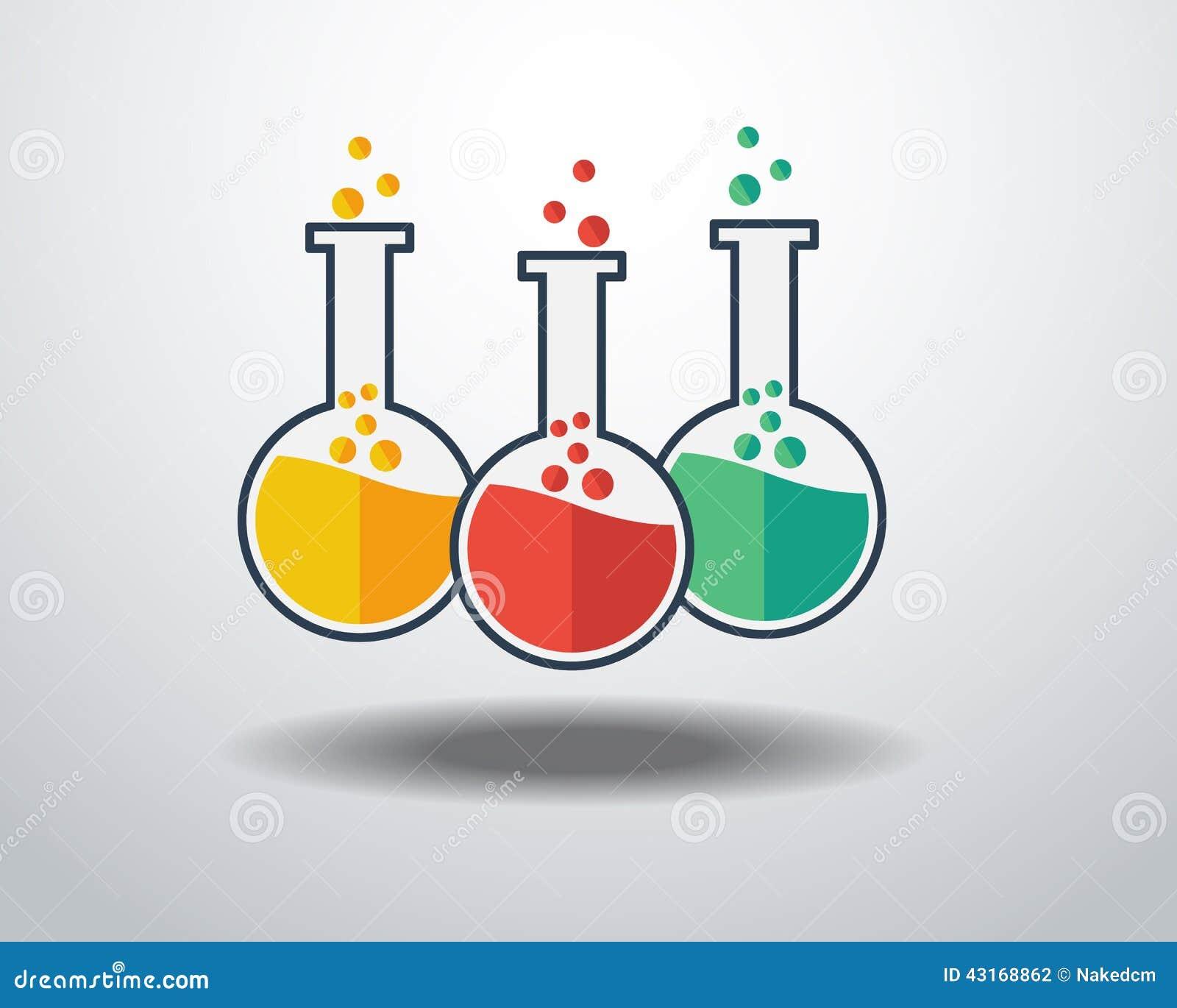 Laboratory Glass Icon Stock Vector Image 43168862