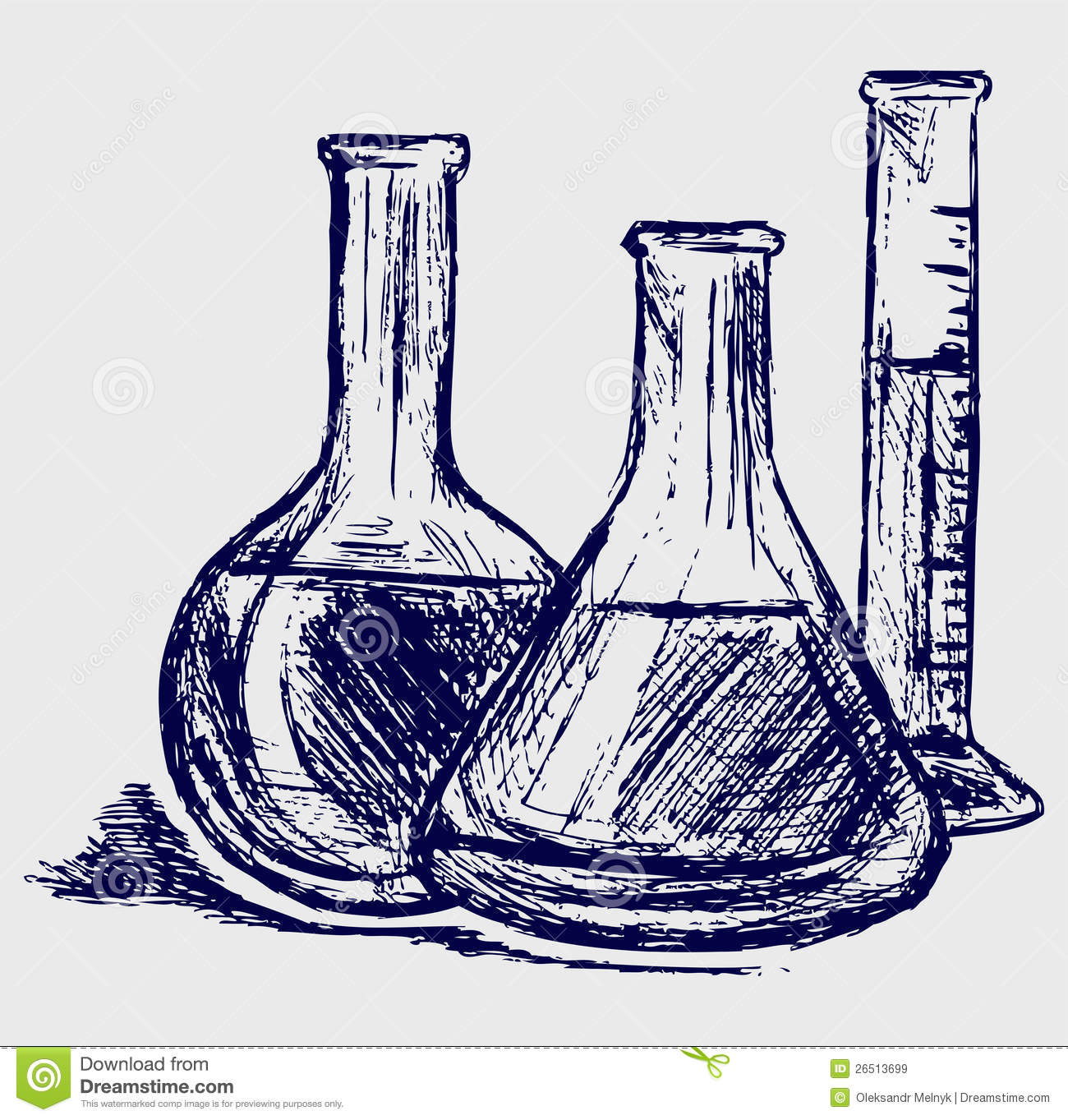 Laboratory glassware stock vector. Illustration of cartoon ...