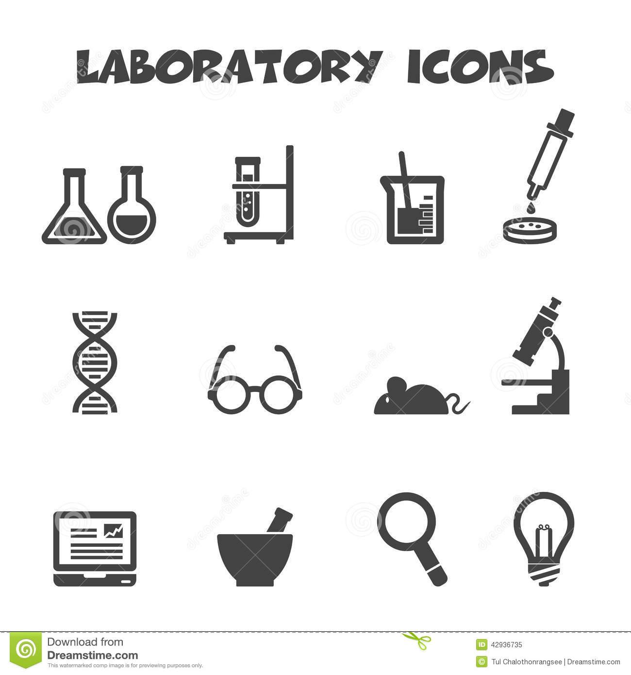 Stock Illustration Laboratory Icons Mono Vector Symbols Image42936735 on Physics Lab Safety Rules