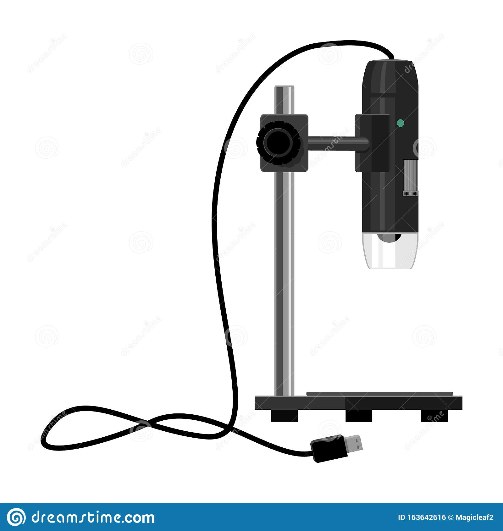 laboratory microscope vector icon cartoon vector icon isolated on white background laboratory microscope stock vector illustration of infection isolated 163642616 dreamstime com
