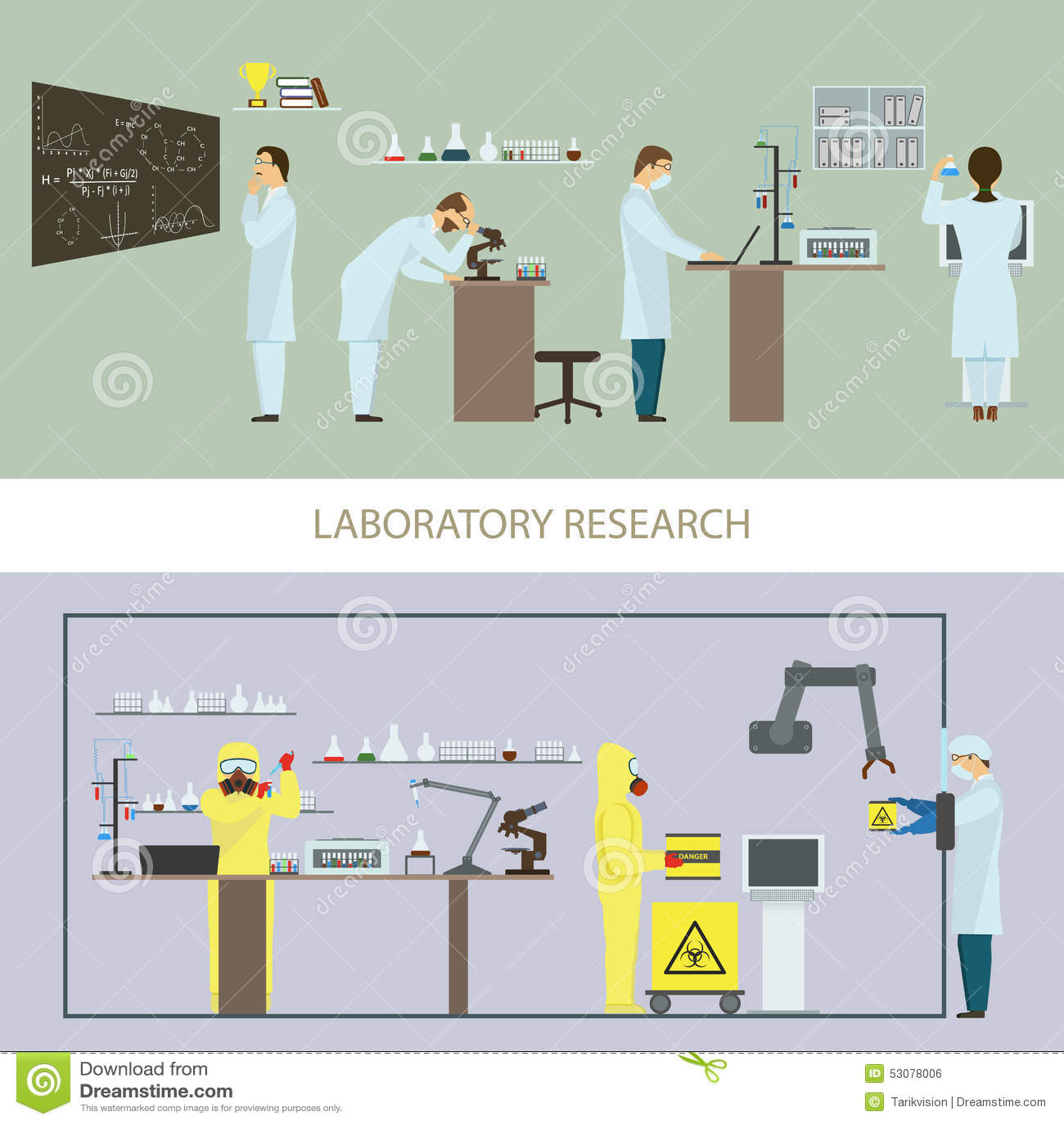Laborforschung durch Gruppe Wissenschaftler