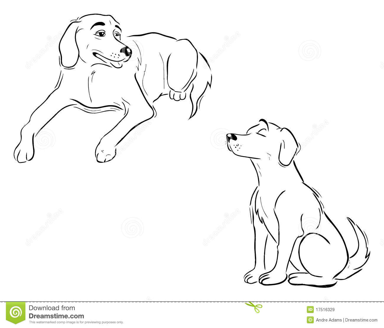 labrador dog outlines royalty free stock images  image