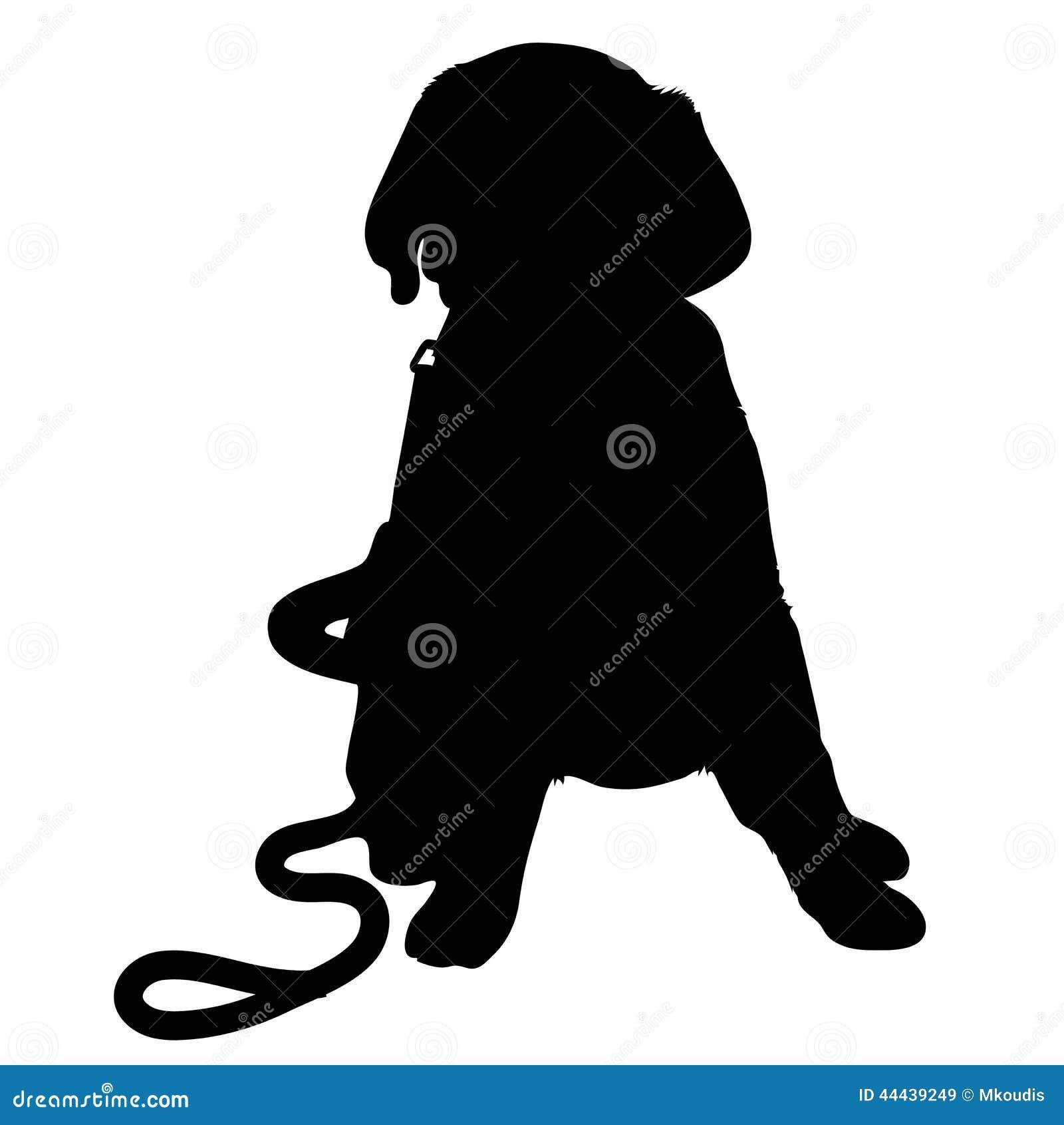 labrador puppy silhouette stock vector image of breed labrador retriever clip art silhouette labrador retriever clip art silhouette