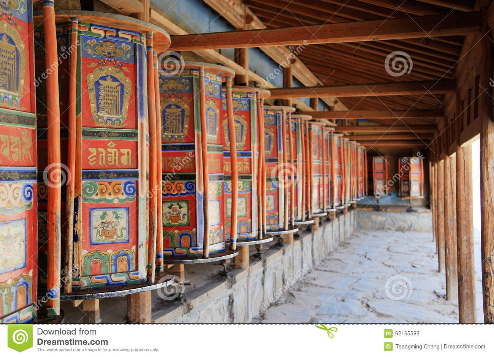 Labrang Lamasery van Tibetaans Boeddhisme in China