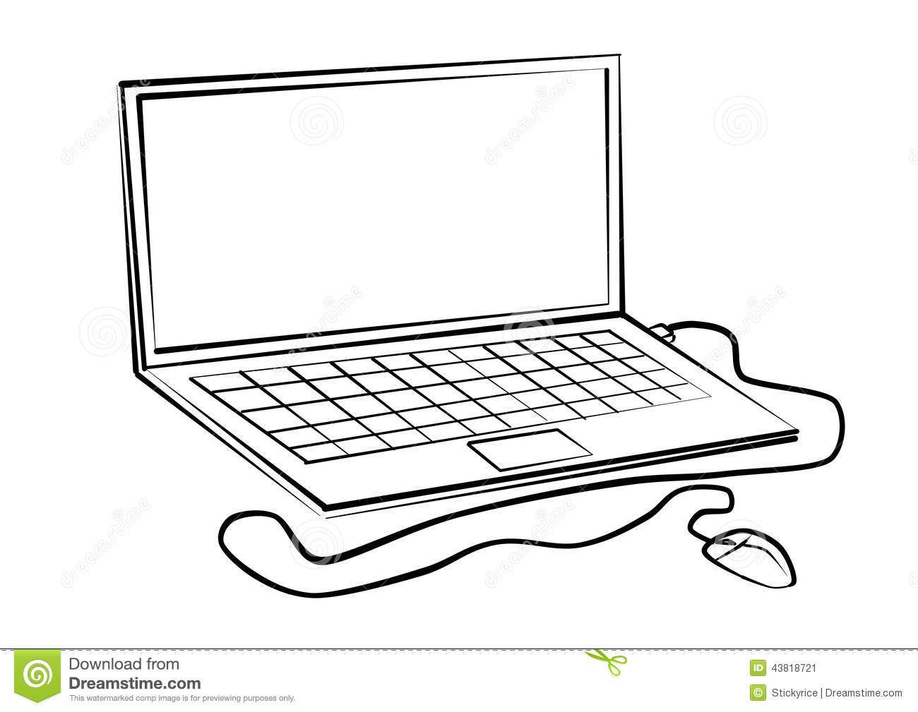 Drawing Lines With Mouse C : Labtop line drawings stock image of notebook