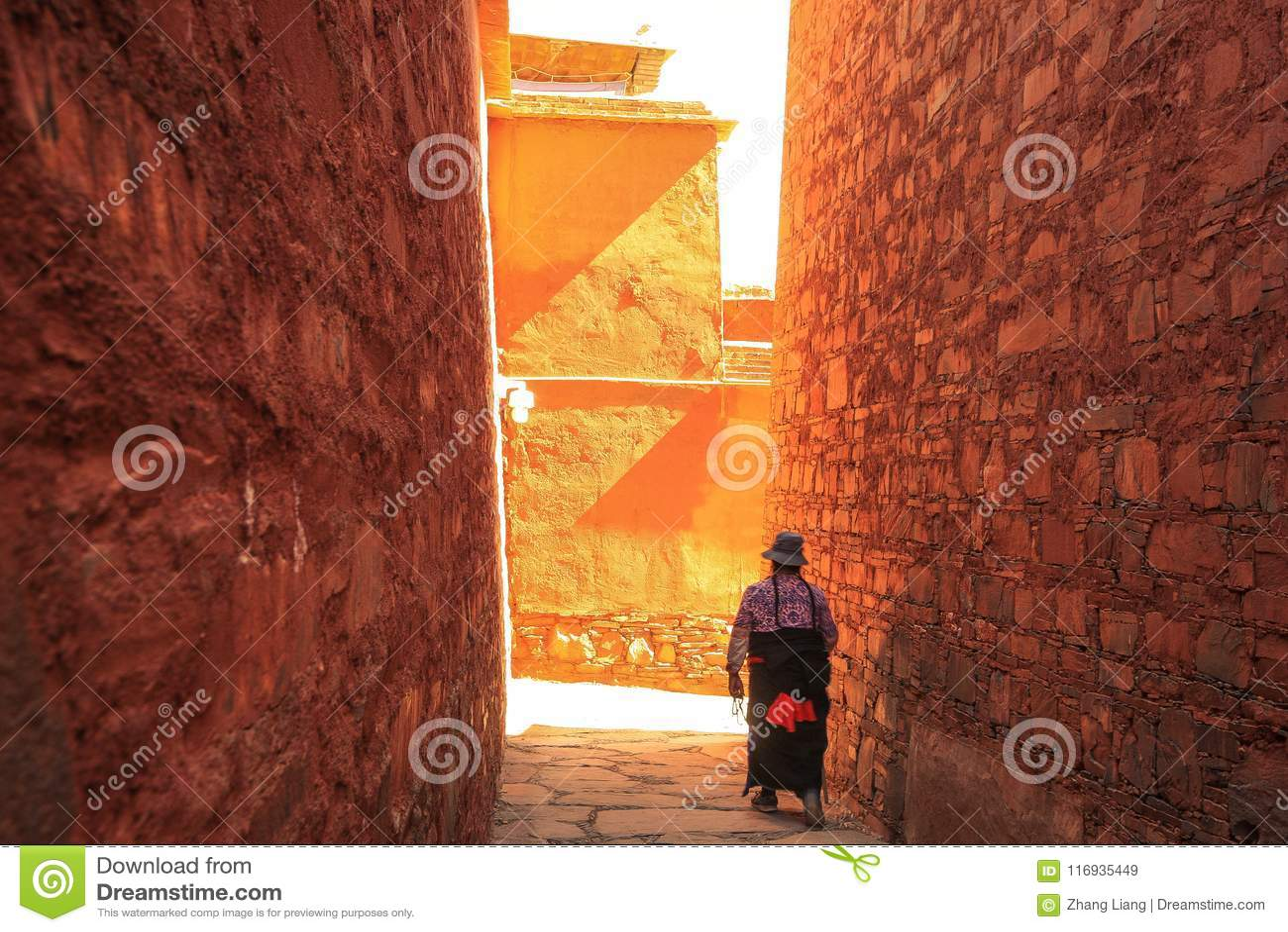 Labuleng świątynia, południe Gansu, Chiny