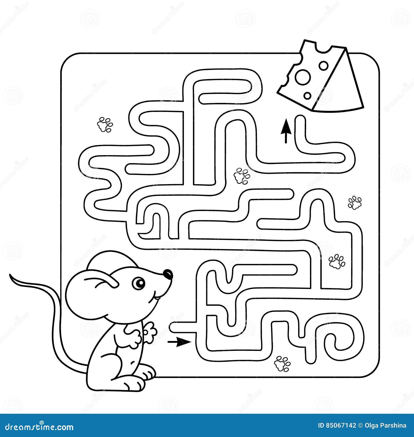 Labyrint Of Labyrintspel Voor Peuterkinderen Raadsel ...