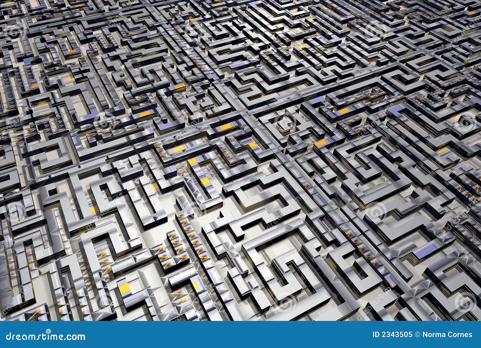 Labyrinth City Maze Royalty Free Stock Photo - Image: 2343505