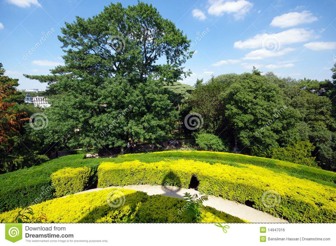 Labyrinth garden in jardin des plantes stock photo image for Jardine des plantes