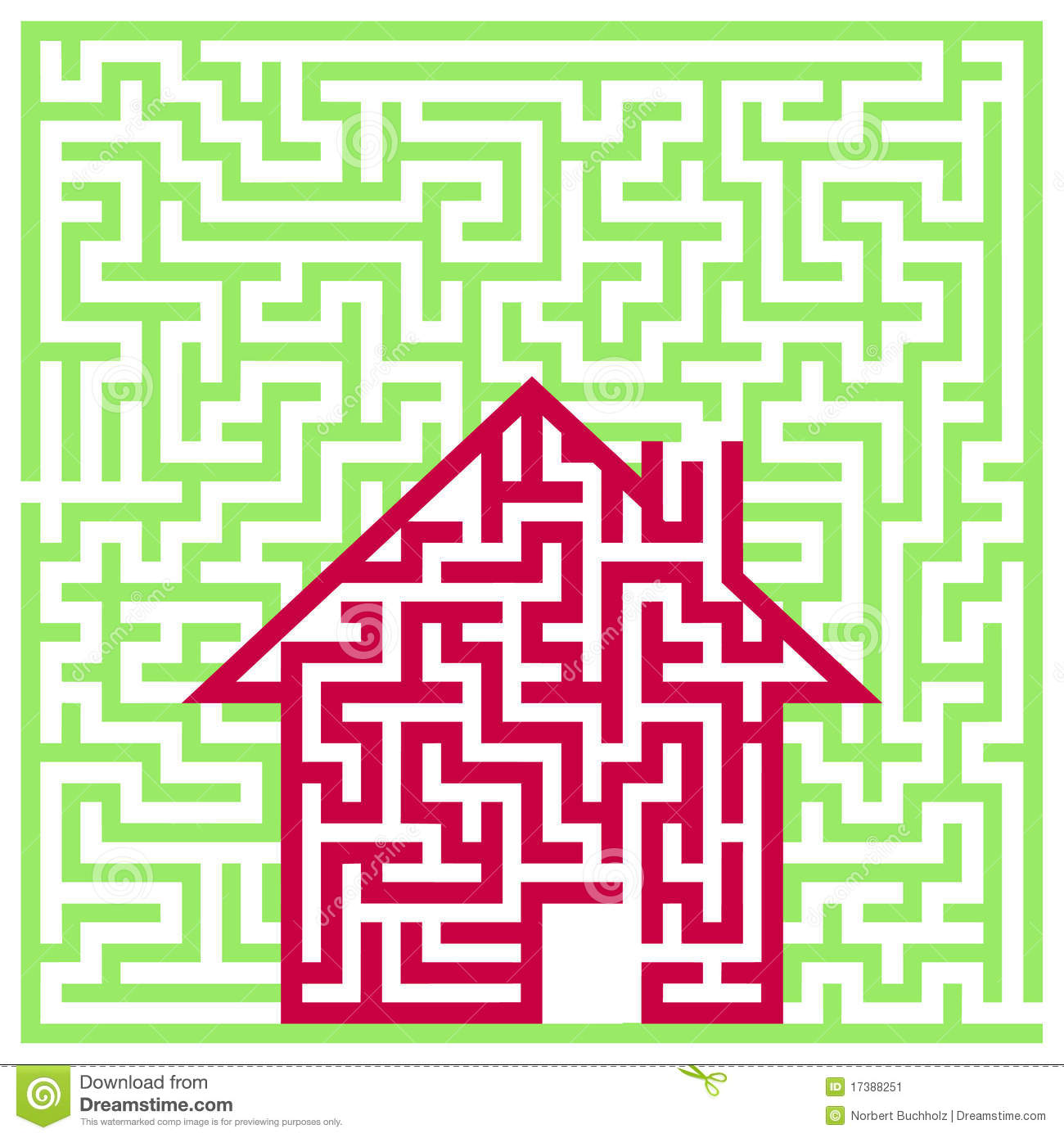 Labyrinth house stock vector. Illustration of building - 17388251
