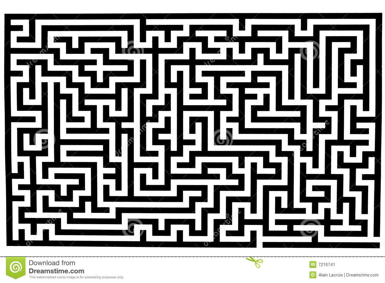 Labyrinthe compliqu illustration stock illustration du - Labyrinthe difficile ...