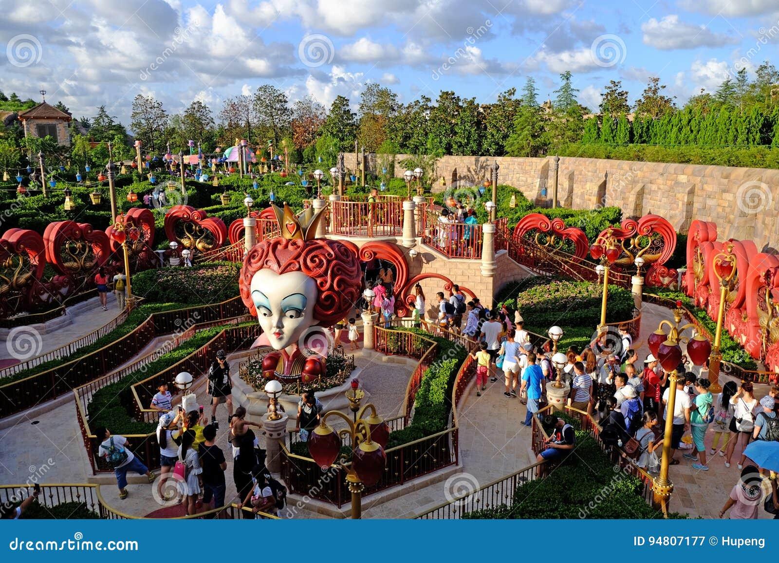 Labyrinthe D Alice à Changhaï Disneyland Photographie