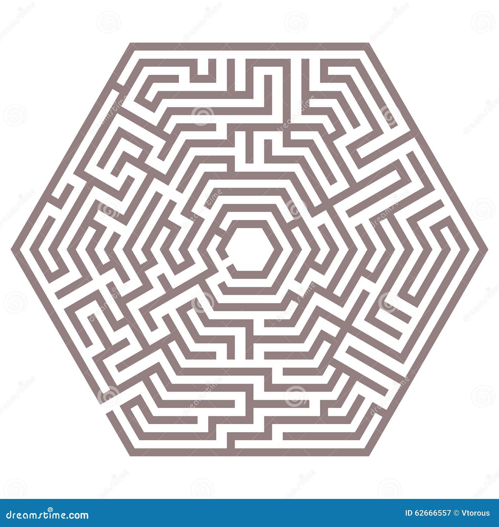 Labyrinthe de vecteur