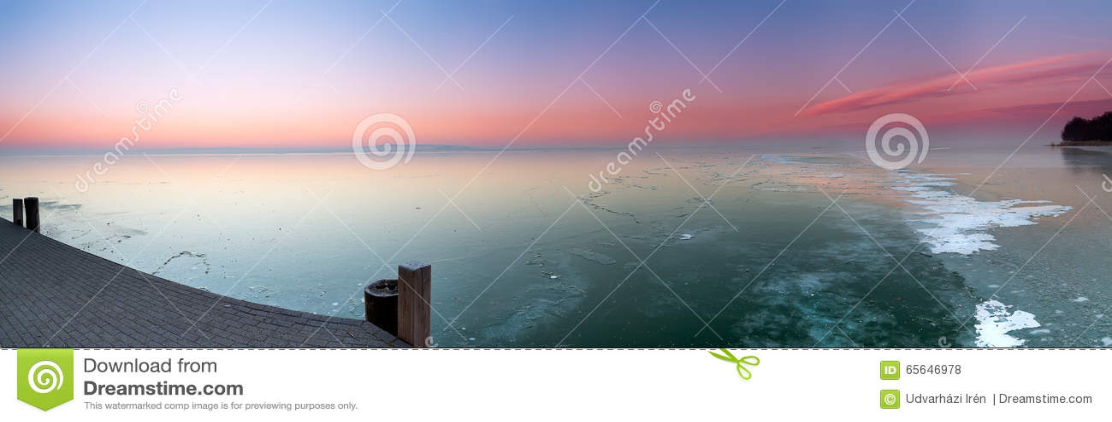 Lac congelé de Hongrie, Balaton