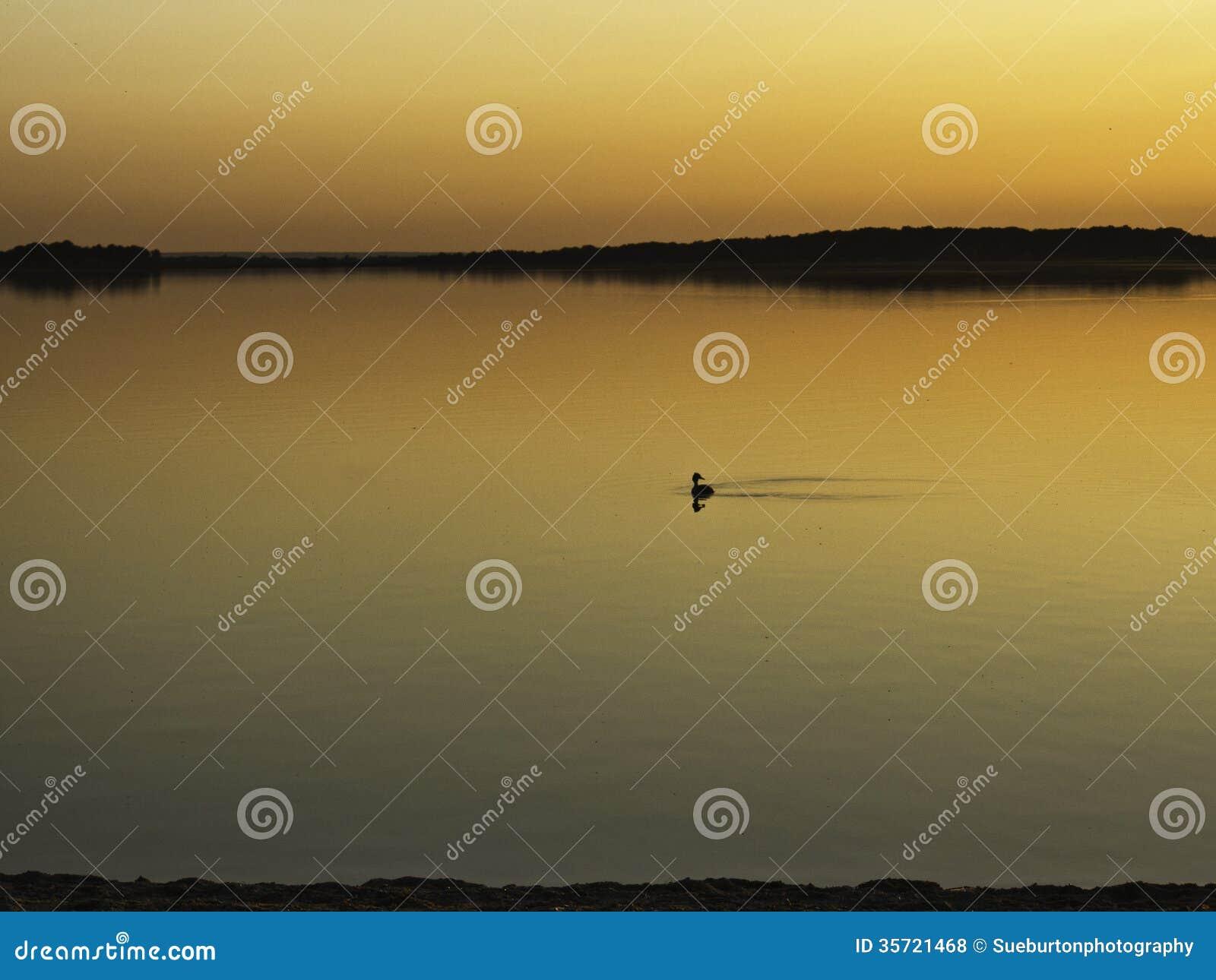 Lac d orient przy zmierzchem