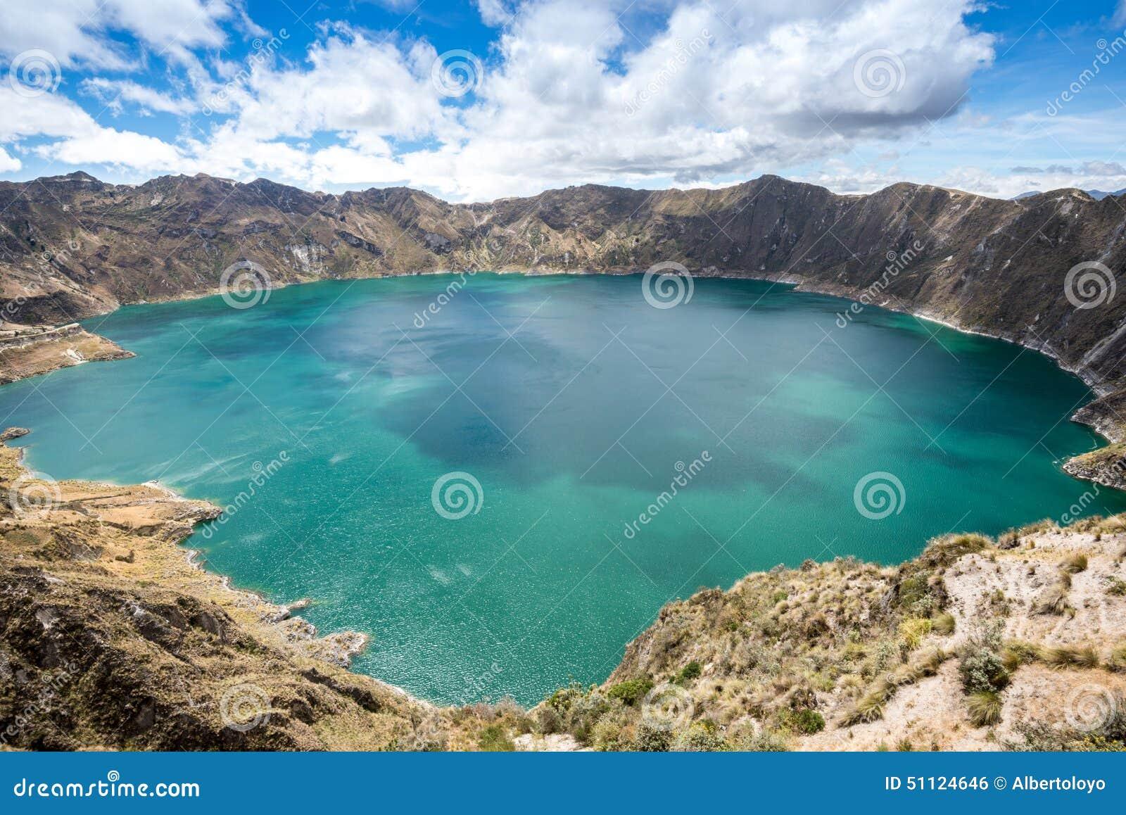 Lac de cratère de Quilotoa, Equateur