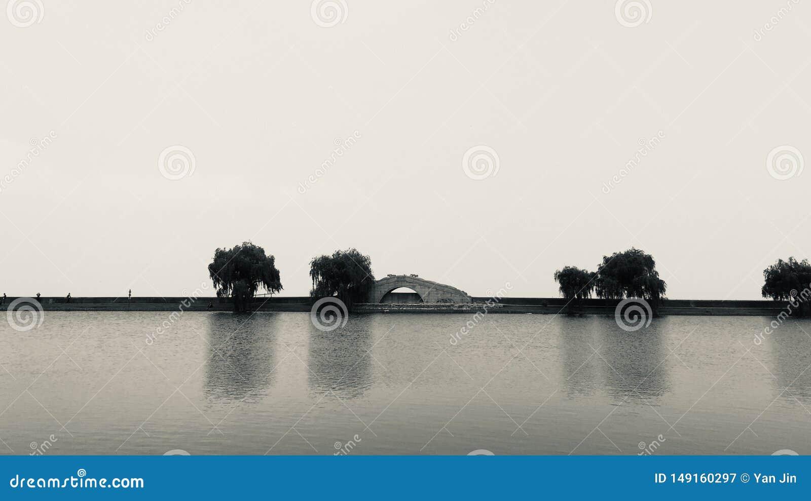 Lac et passerelle