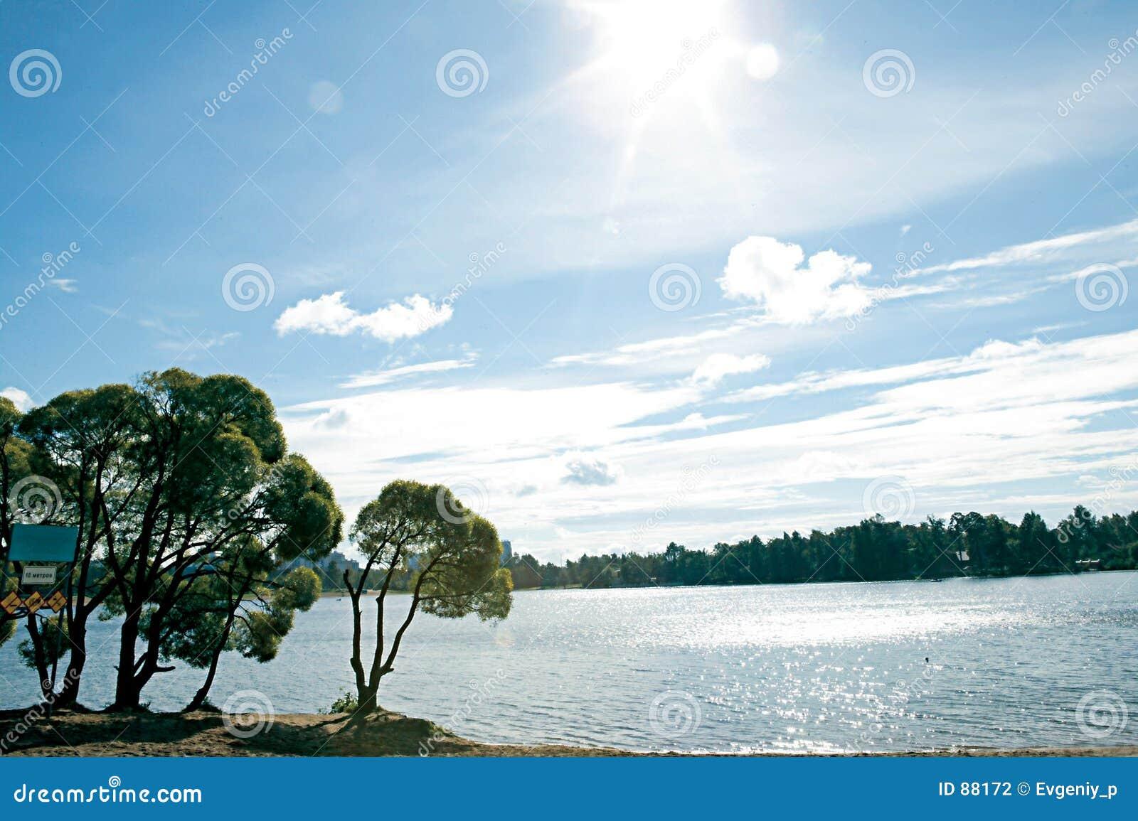 Lac et soleil.