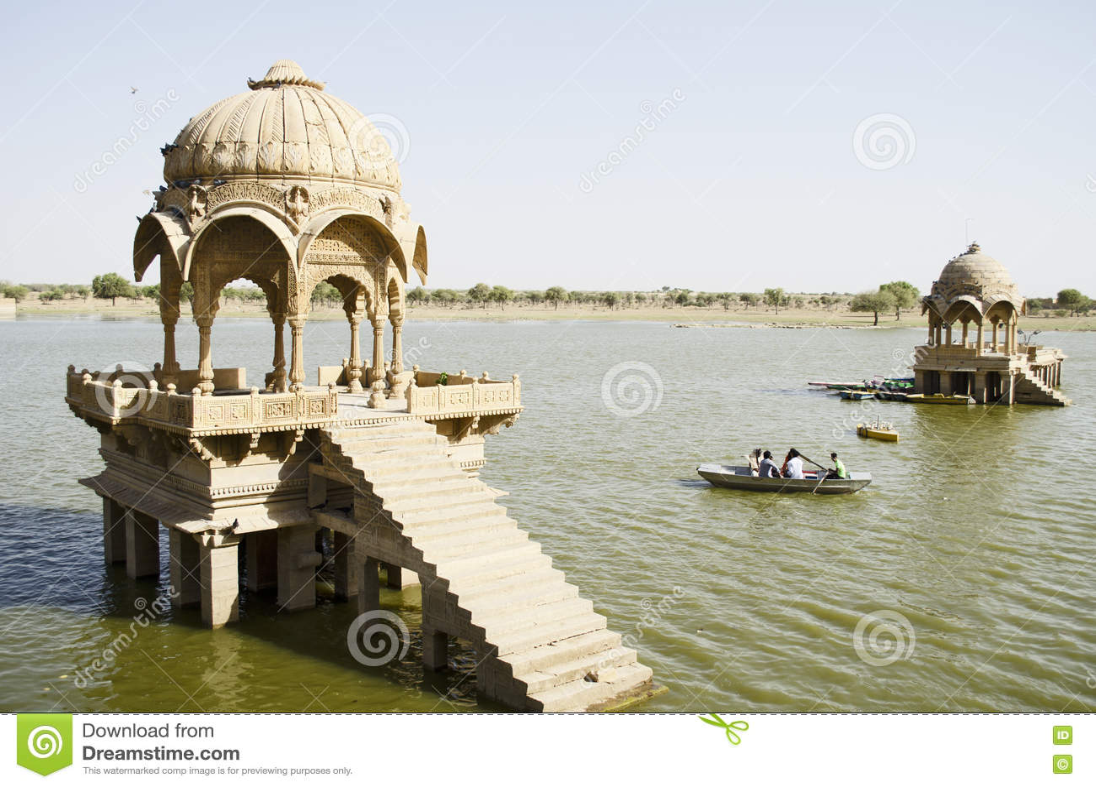 Lac gadi Sagar, Jaisalmer, Ràjasthàn, Inde, Asie