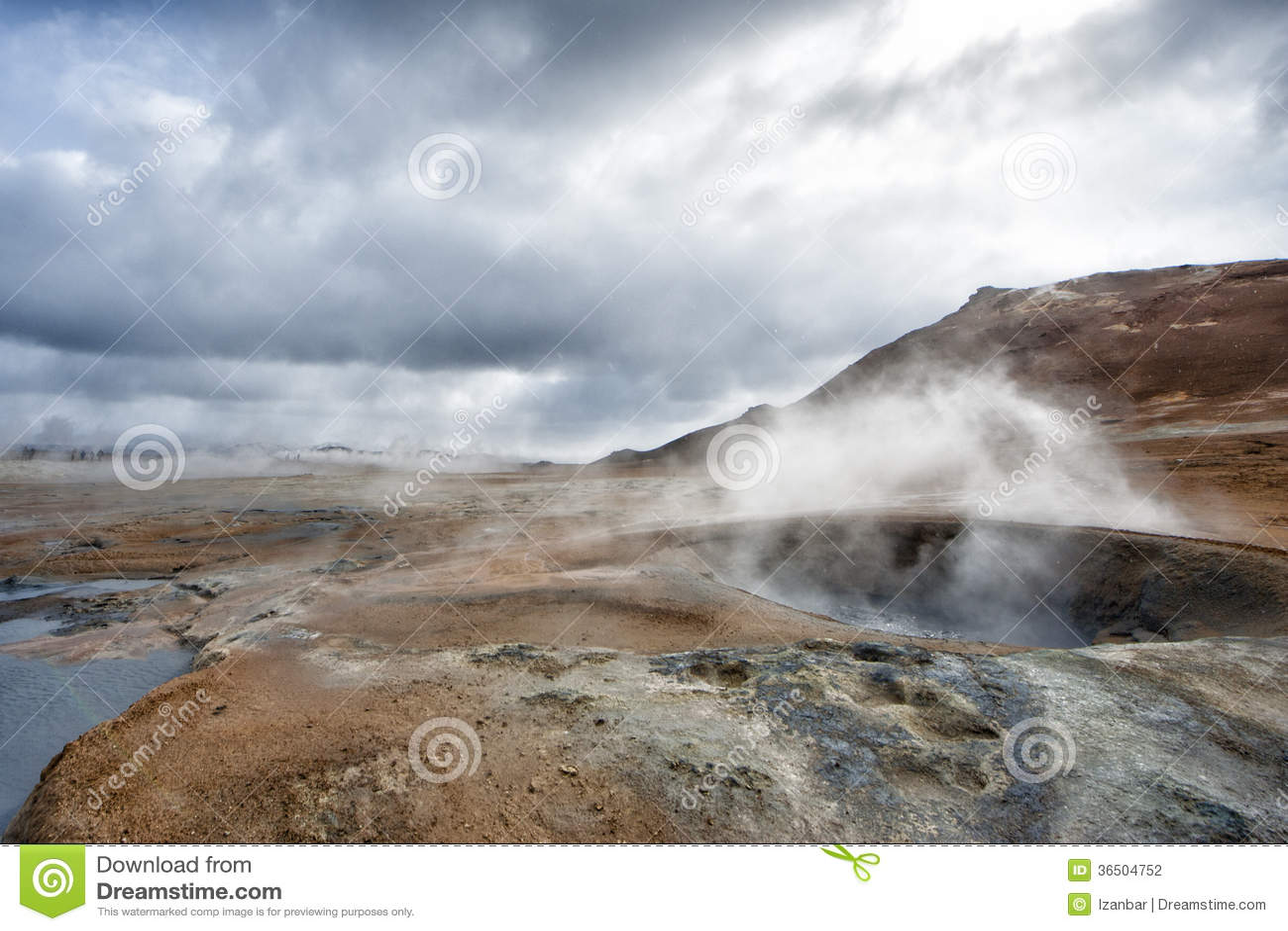 Lac Hot Springs Myvatn en Islande