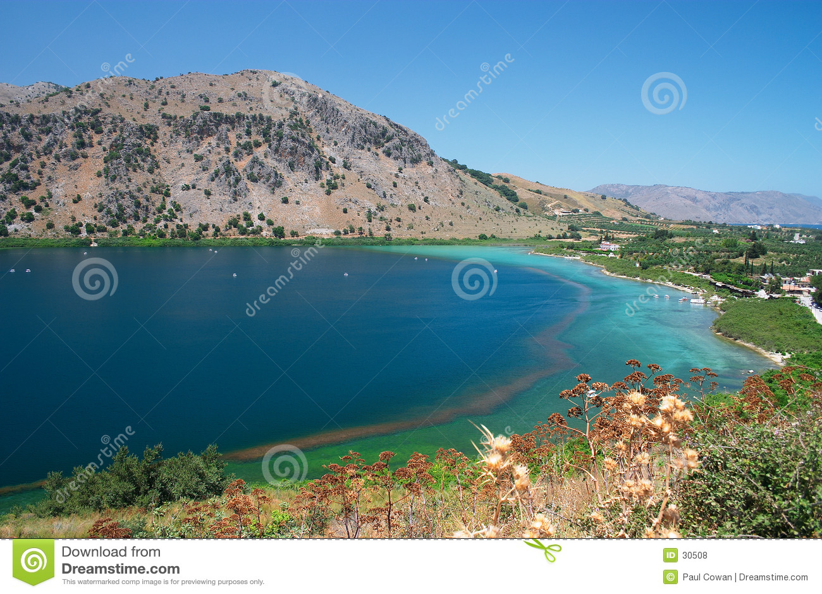 Lac Kournas, Crète