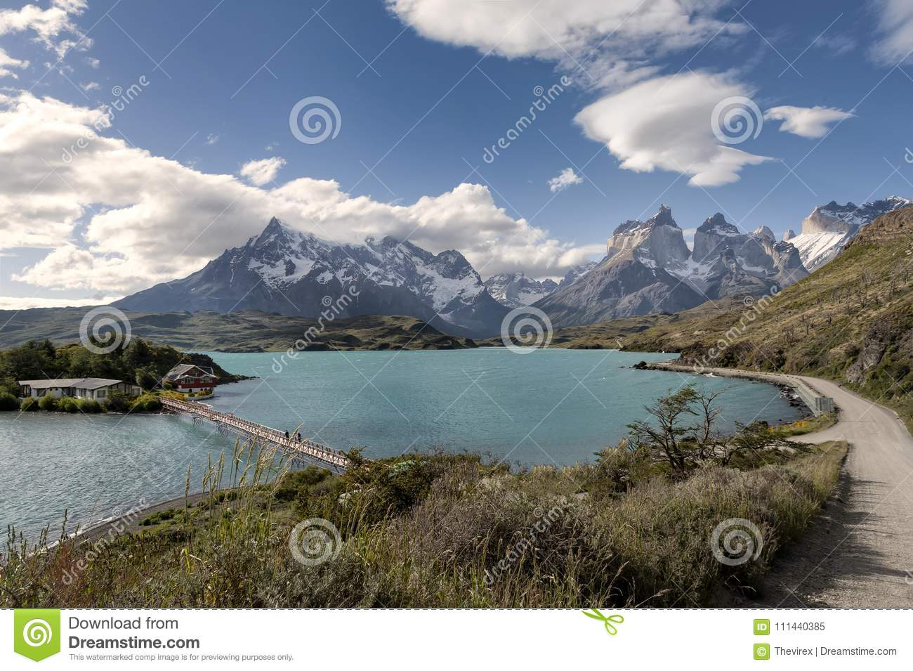 Lac Pehoe, Torres Del Paine National Park, Patagonia, Chili