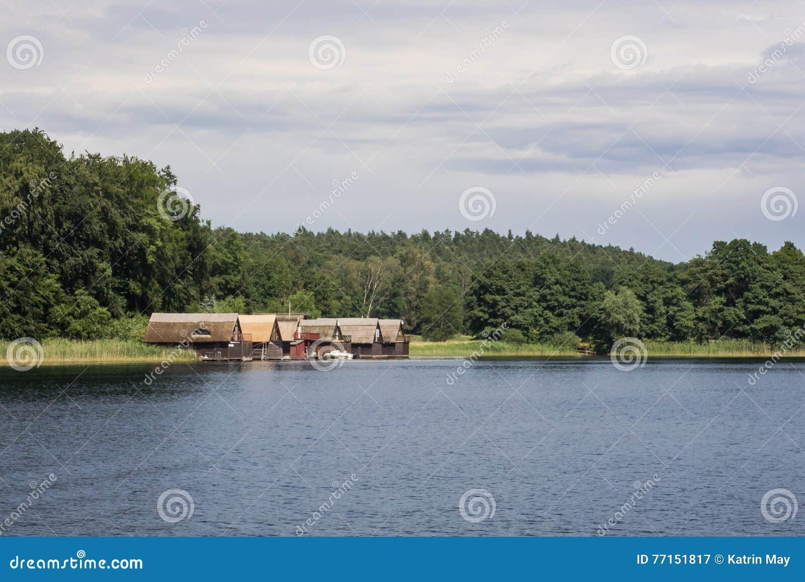 Lac Petersdorf dans Pomerania Mecklenburg-occidental, Allemagne