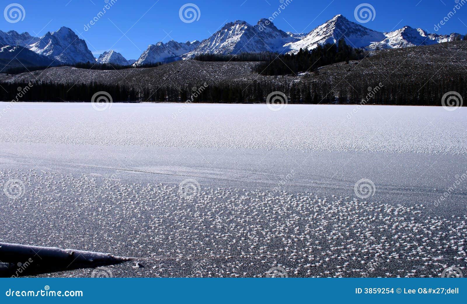 Lac redfish en hiver