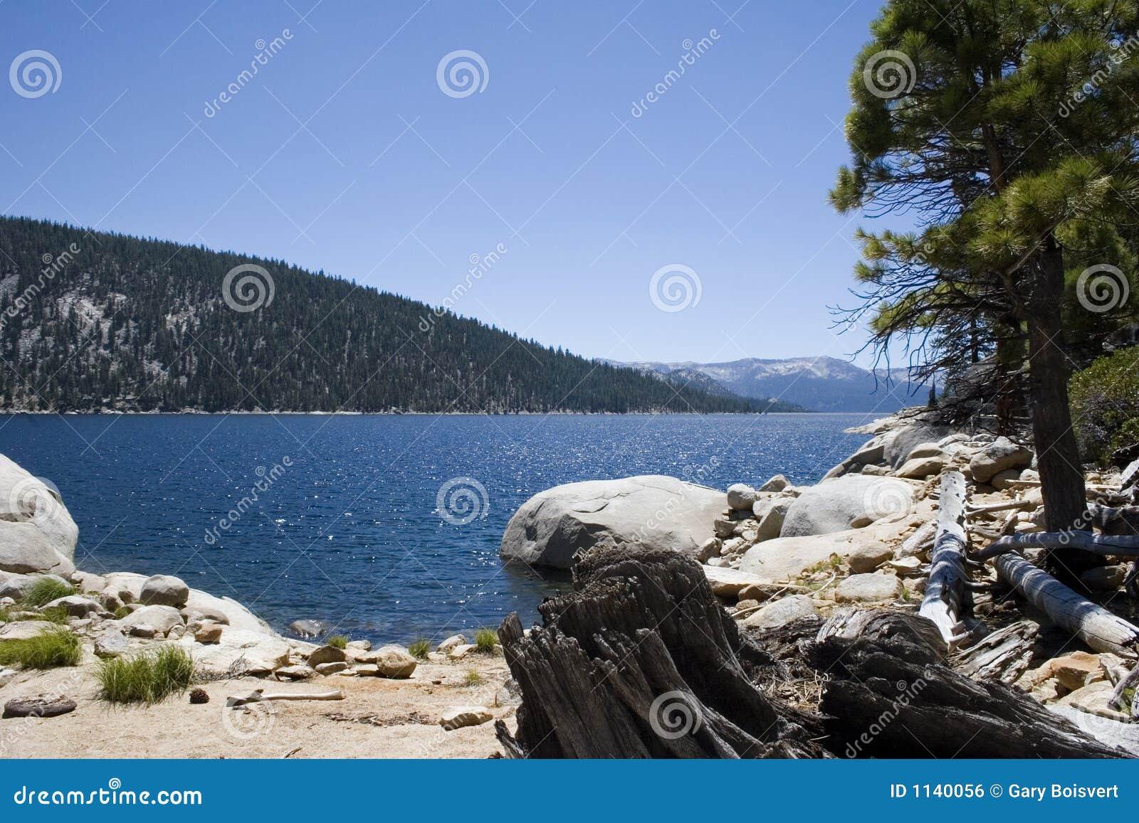 Lac scénique de montagne, lac Edison