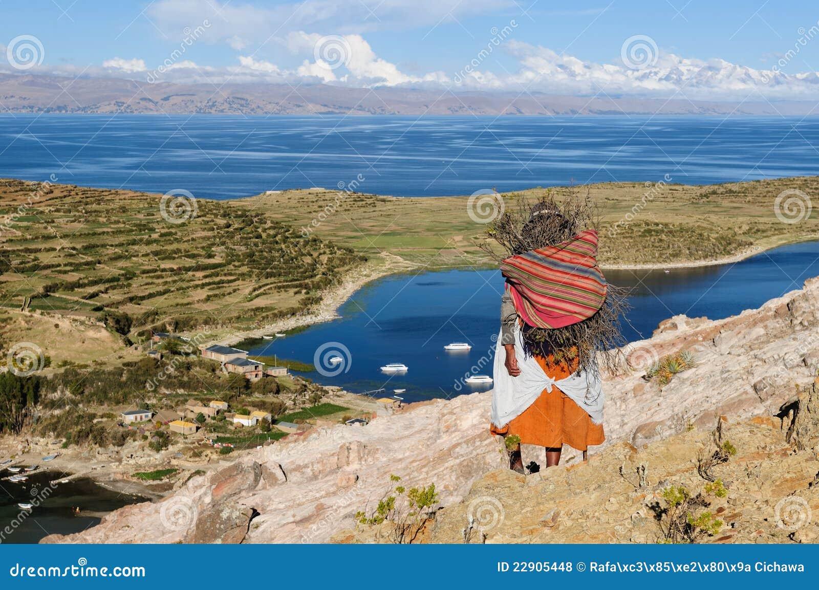 Lac Titicaca, Bolivie, horizontal d Isla del Sol