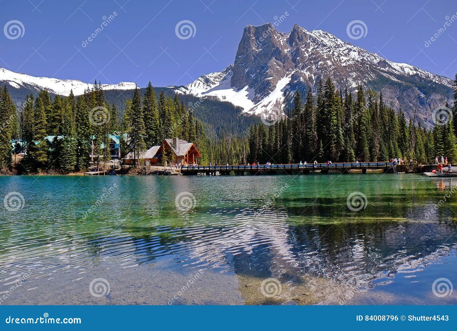 Lac vert en Yoho National Park en Colombie-Britannique