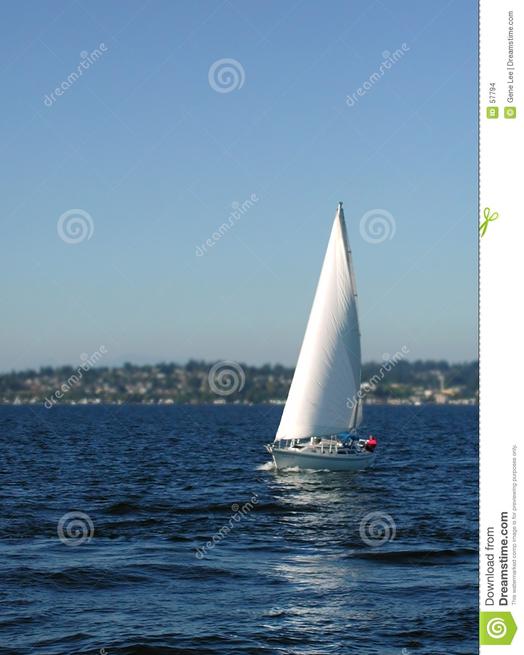Download Lac Washington sailing photo stock. Image du bateaux, yacht - 57794