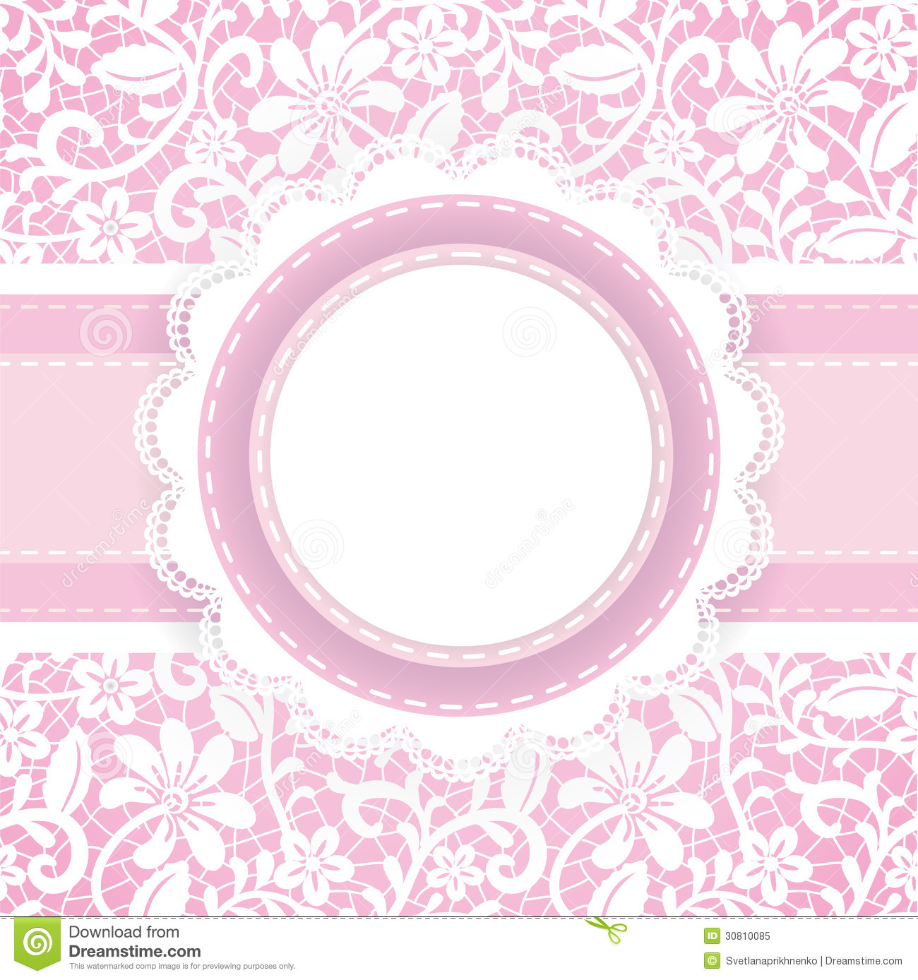 Lace Background And Pearl Necklace Stock Vector
