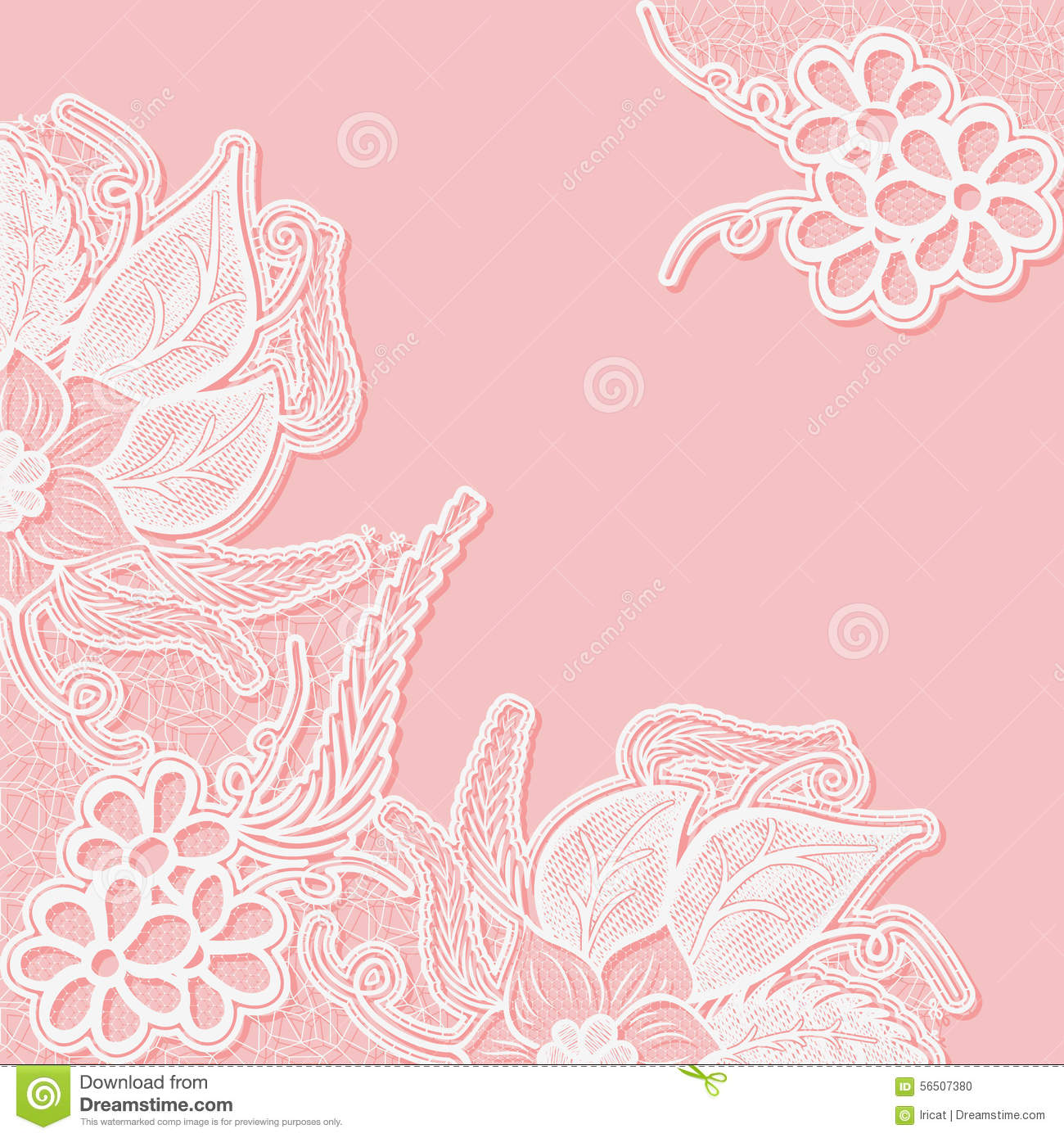 Lace Background With Space For Text. Template Wedding