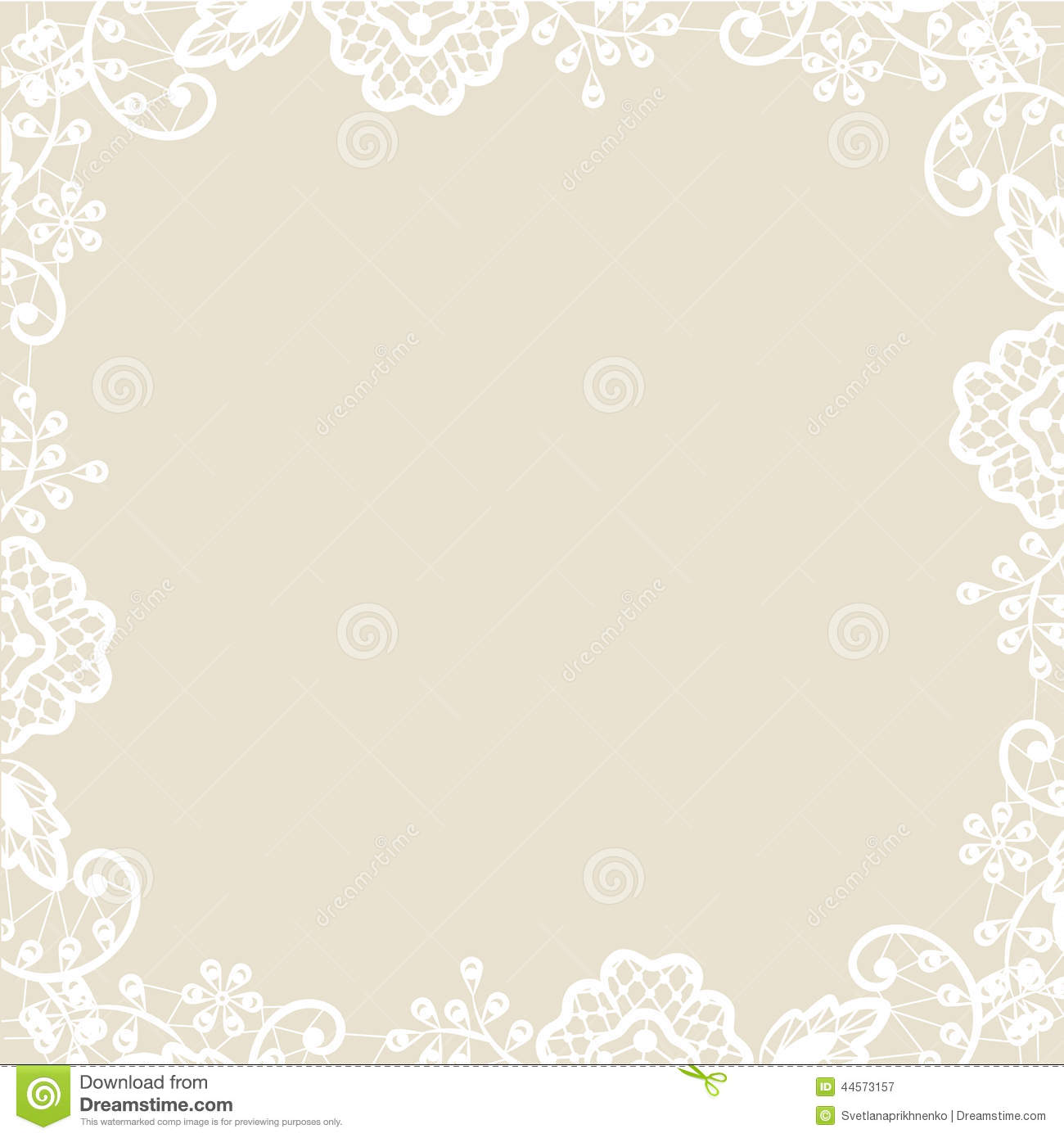 Lace On Beige Background Stock Vector Illustration Of