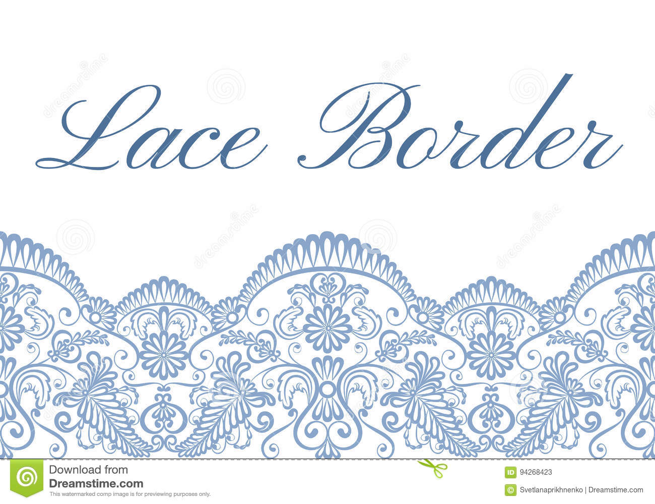 lace border card stock vector illustration of floral 94268423