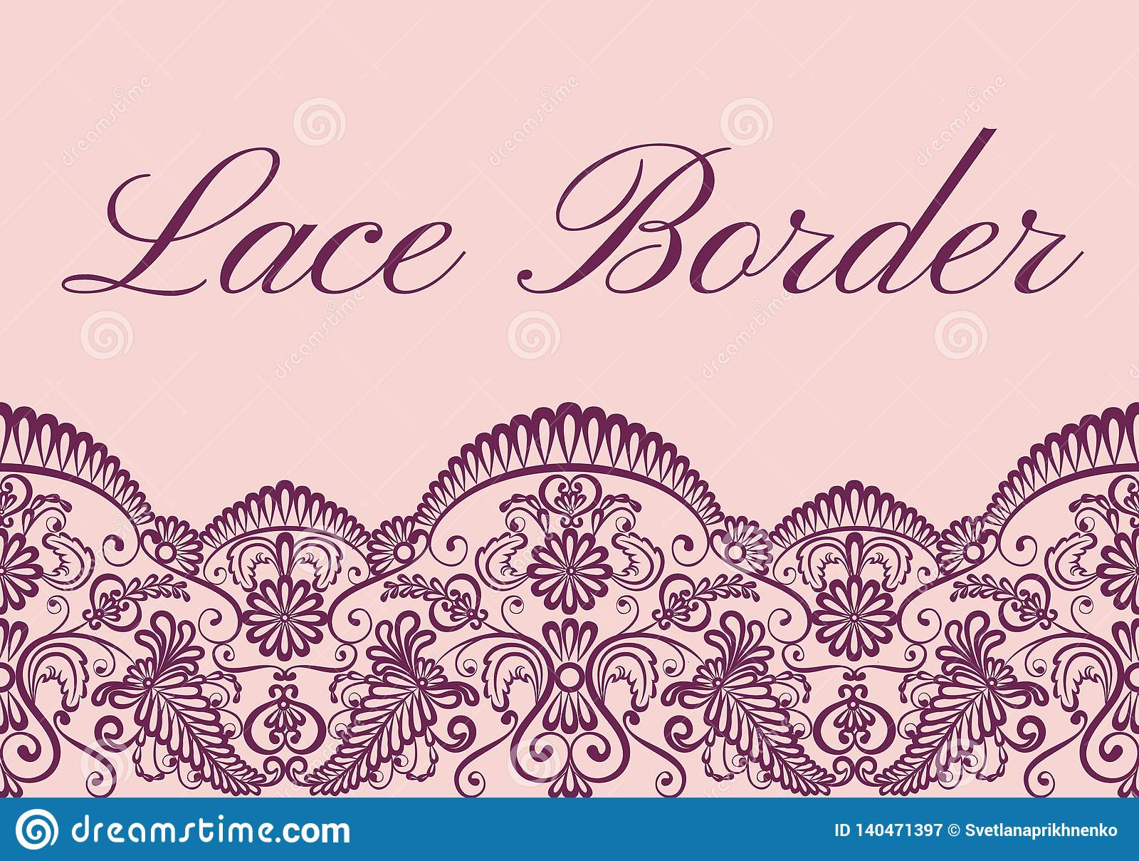 lace border card stock vector illustration of decorative