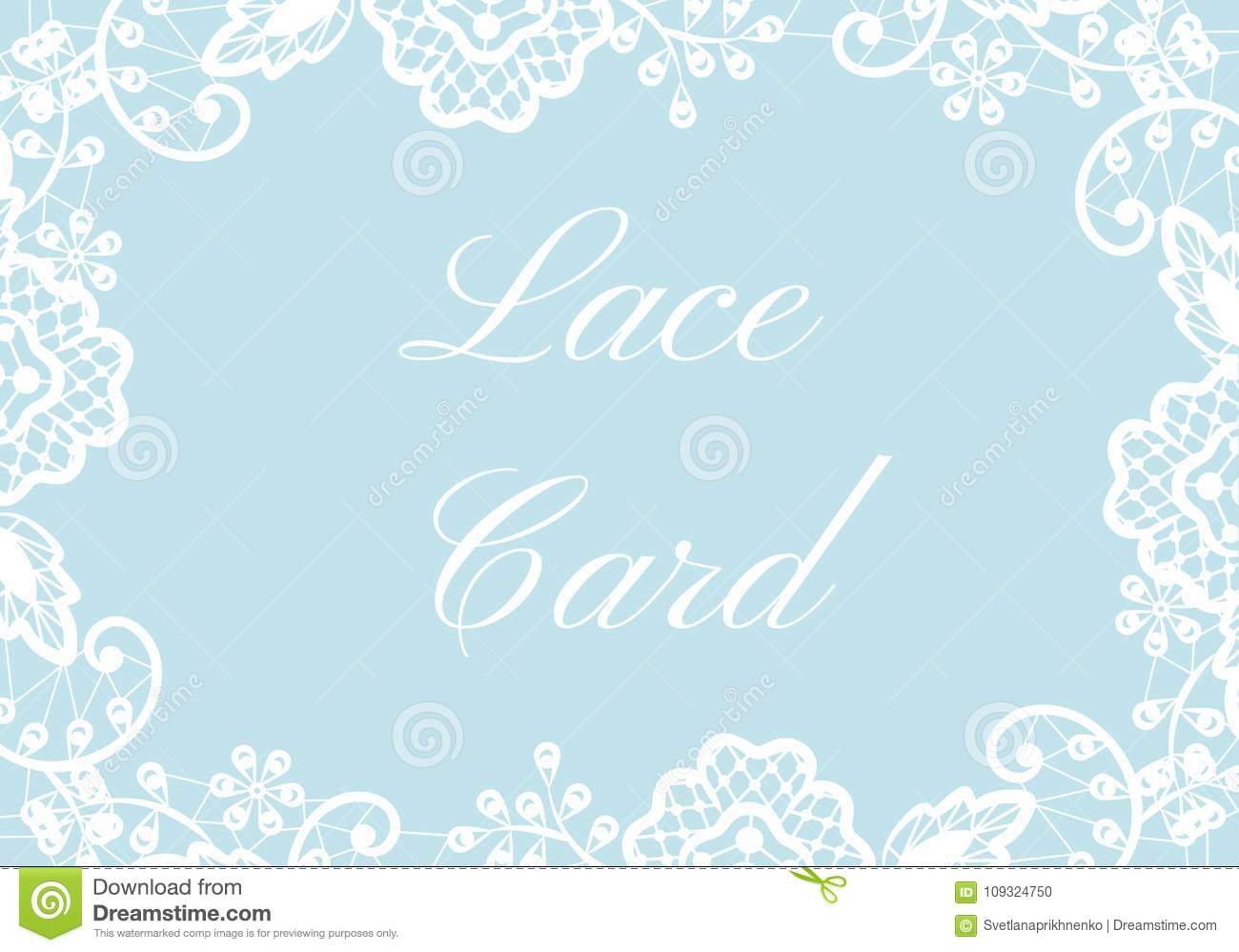 lace border card stock illustration illustration of collection