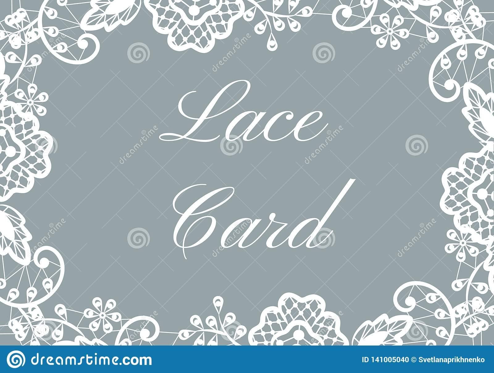 lace border card stock vector illustration of style