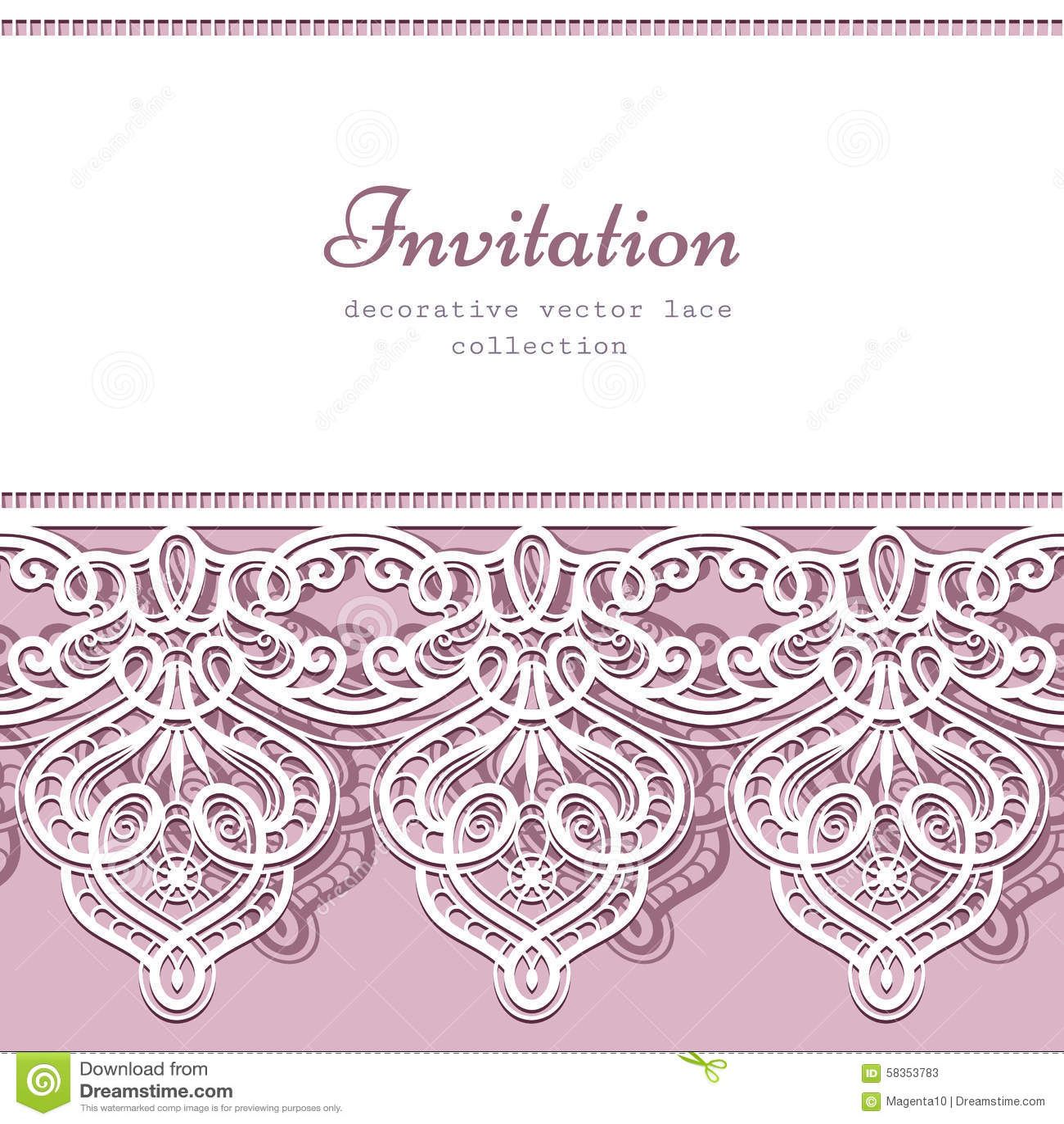 lace border template illustration 58353783 megapixl