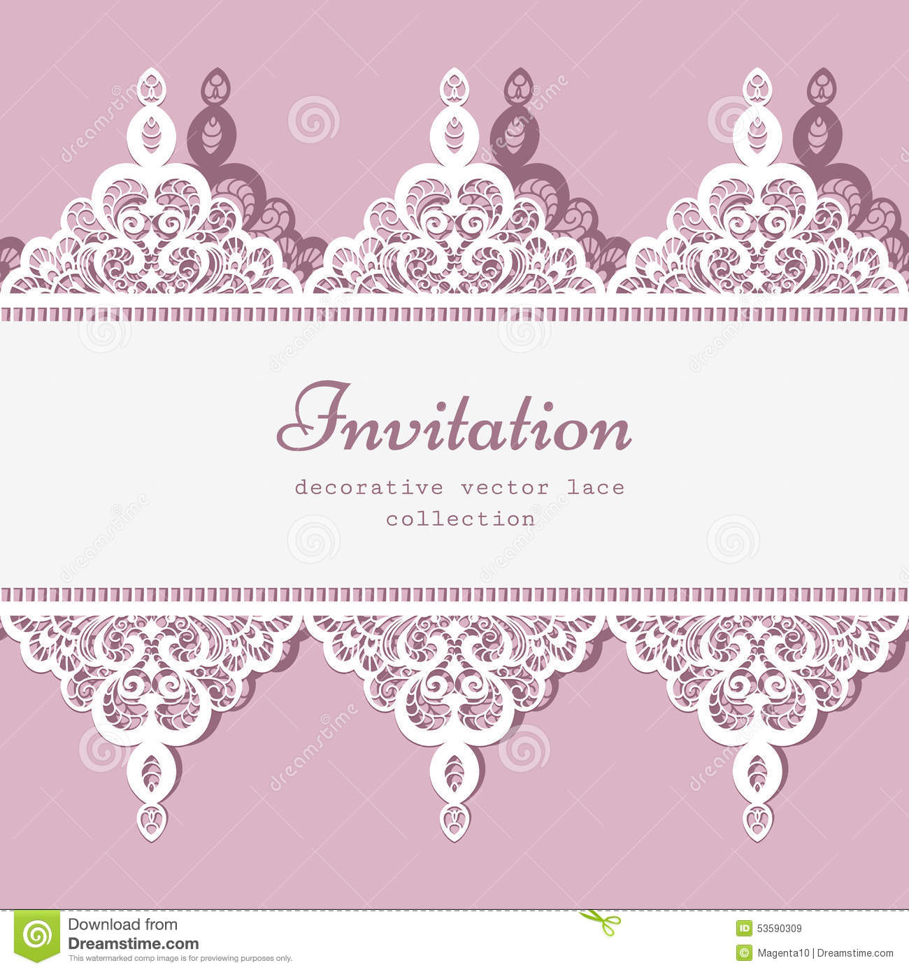 lace border template stock vector illustration of frame 53590309