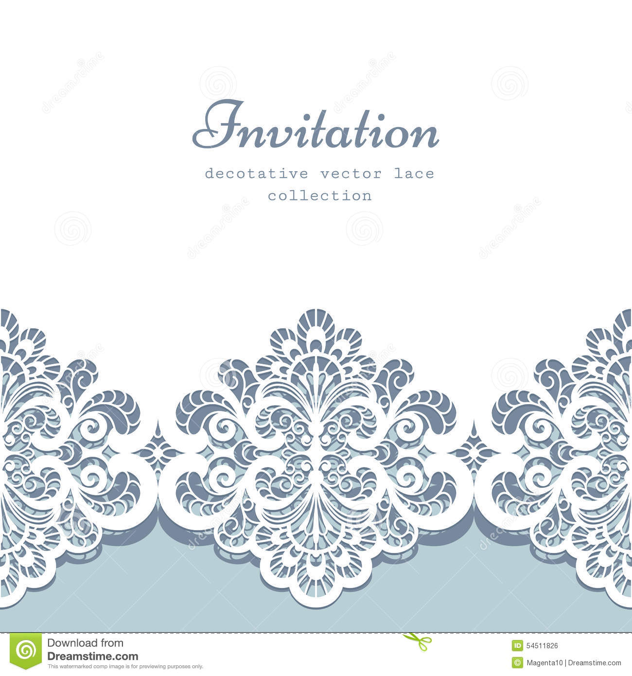 lace border template stock vector