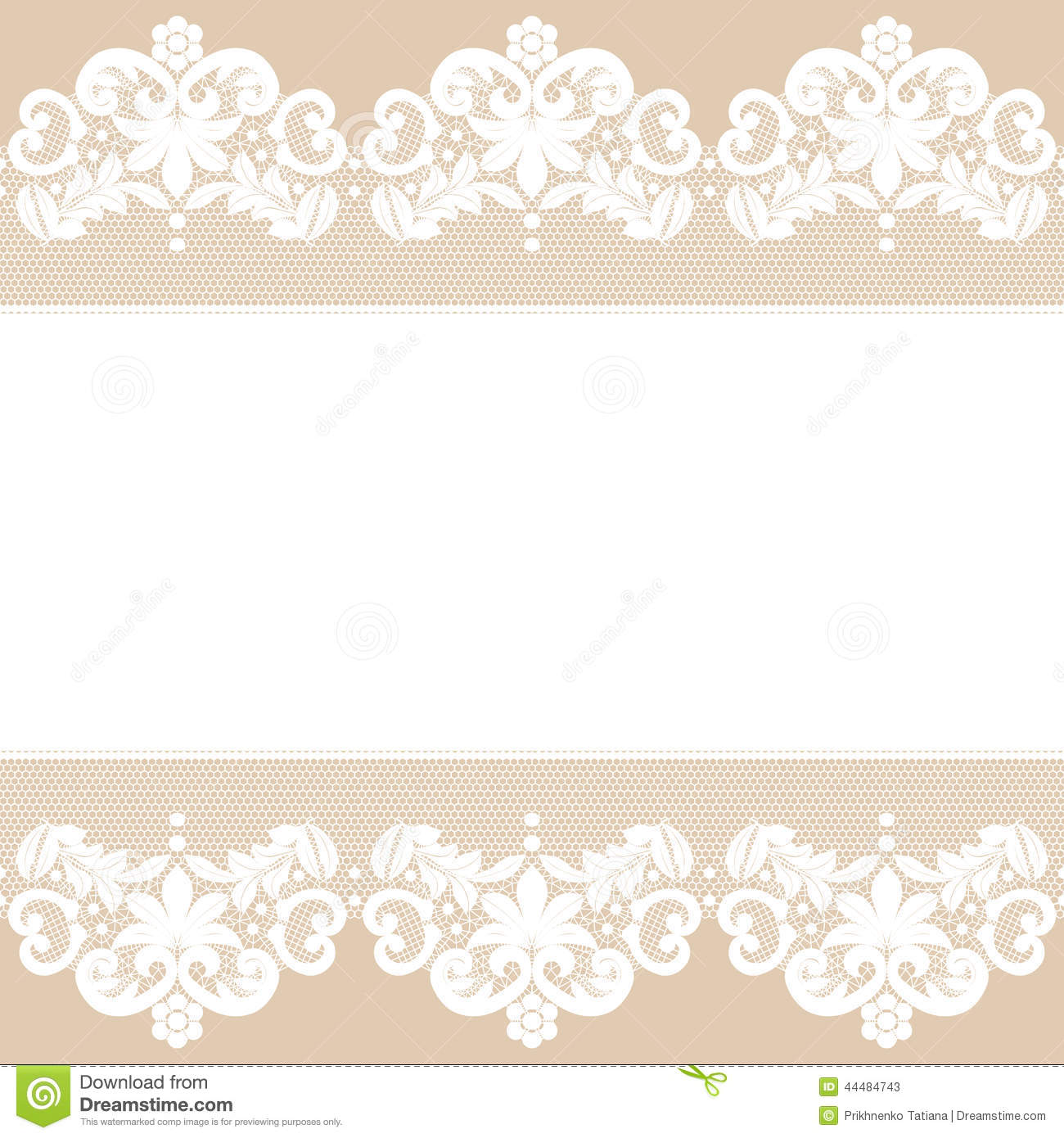 Template for wedding, invitation or greeting card with white lace ...