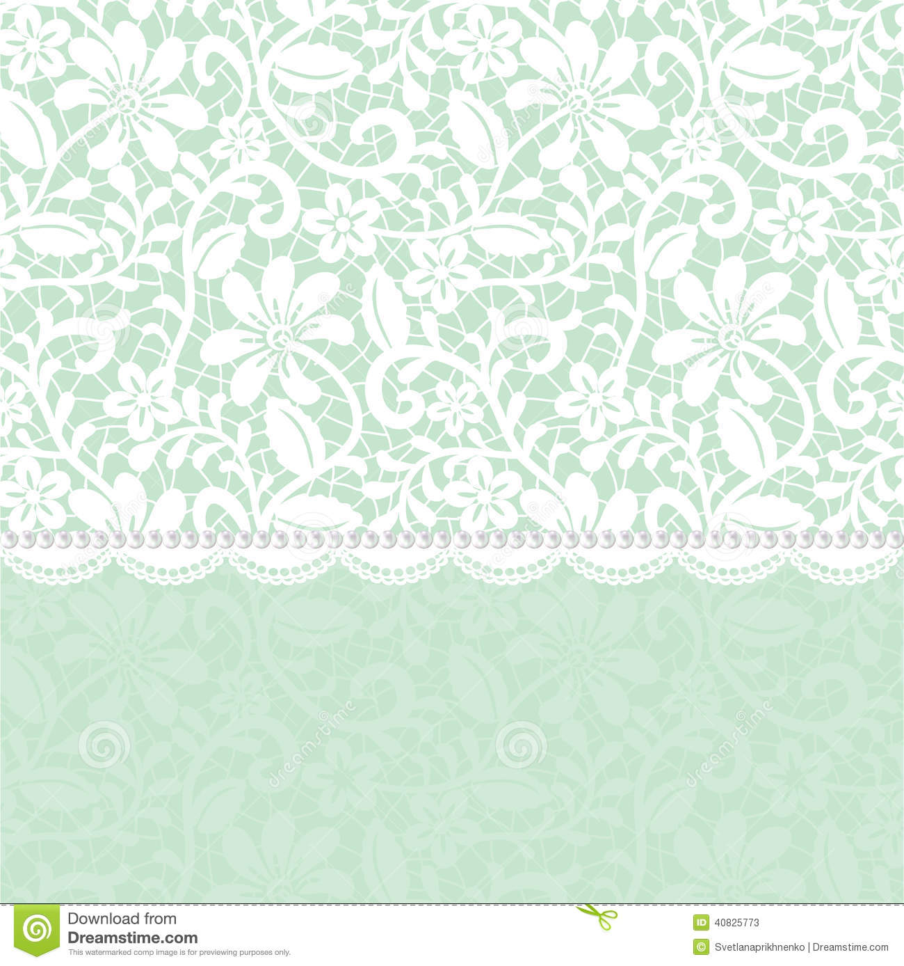 Lace border stock vector image of background card for Border lace glam