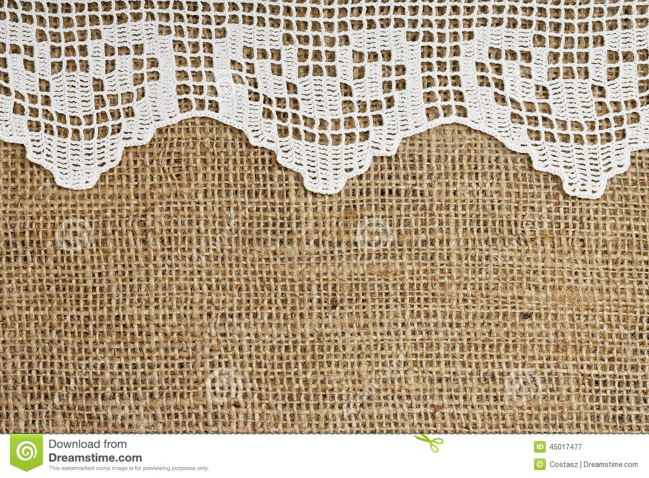 Lace And Burlap Stock Image Of Pattern Canvas