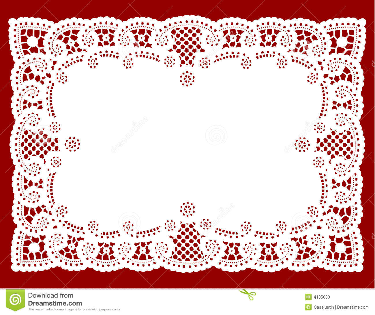 Lace Doily Place Mat Stock Vector Illustration Of Cotton