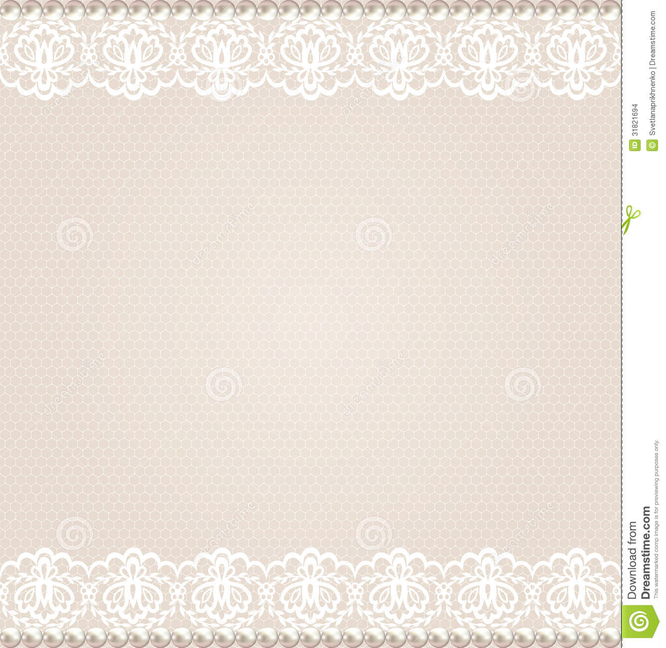 Lace Floral Border Stock Images