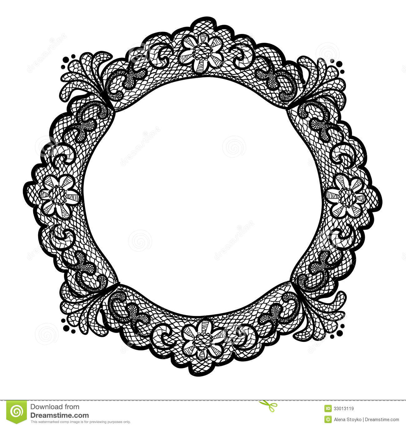 Royalty Free Stock Images Lace Frame File Eps Format Image33013119 on Romantic Frame Transparent